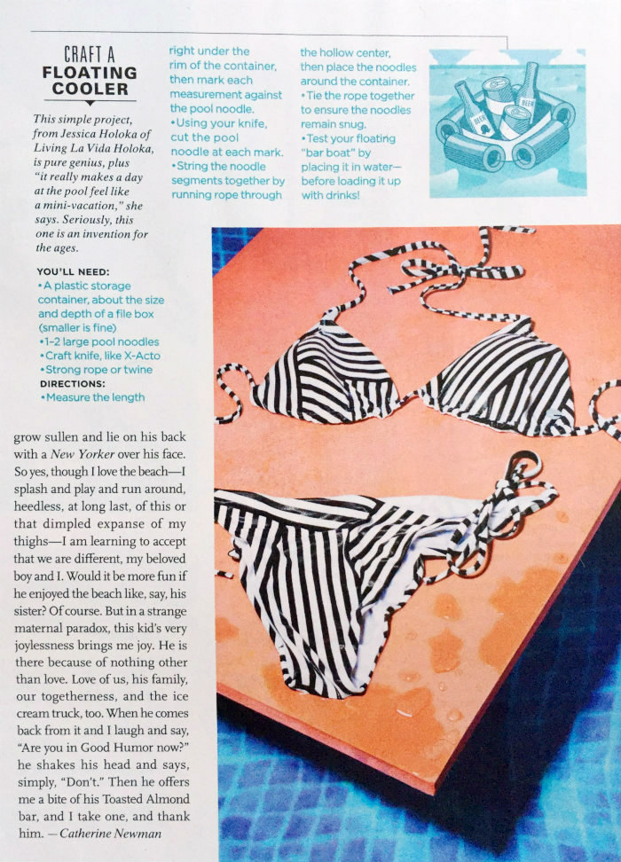 Craft a Floating Cooler - Redbook Magazine July 2016