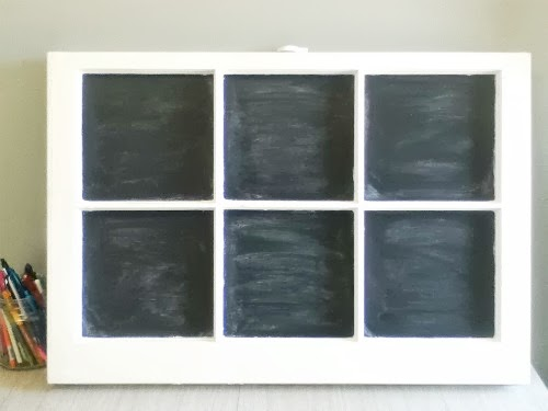 Upcycled Window Chalkboard - Living La Vida Holoka