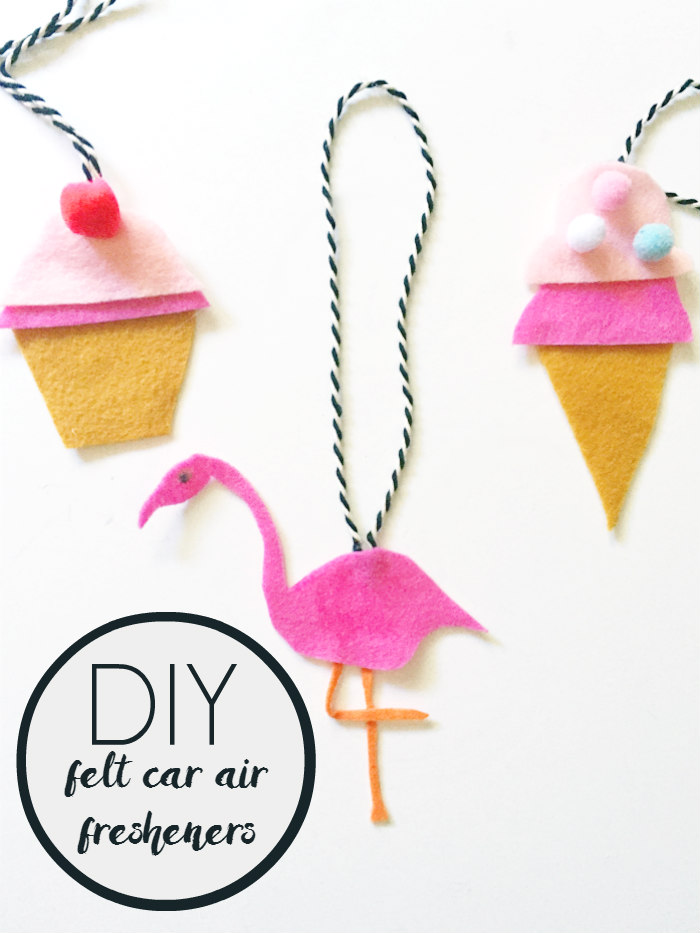 DIY Felt Car Air Fresheners