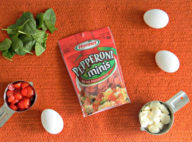 pepperonipizzabreakfastscrambleingredients