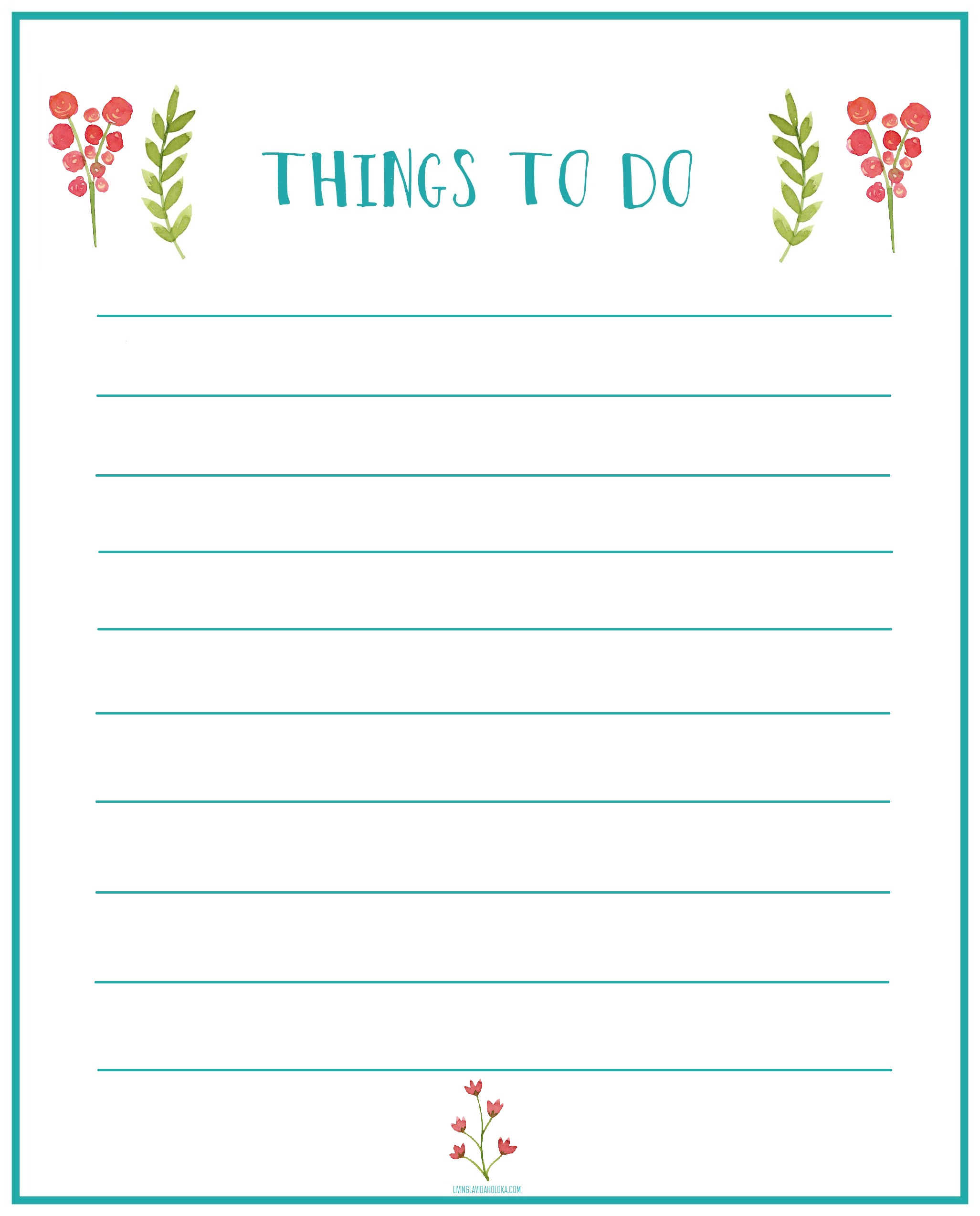 home office update things to do printable living la vida holoka