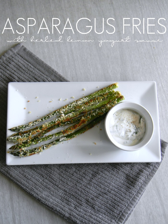 Asparagus Fries wtih Herbed Lemon Yogurt Sauce