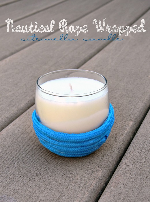 Nautical Rope Wrapped Citronella Candle