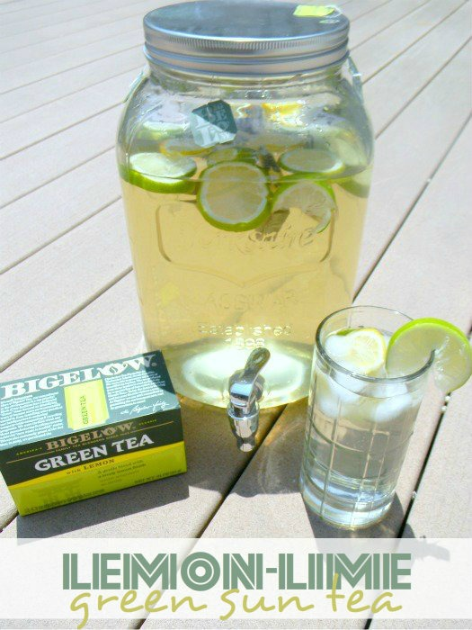 Lemon-Lime Green Sun Tea