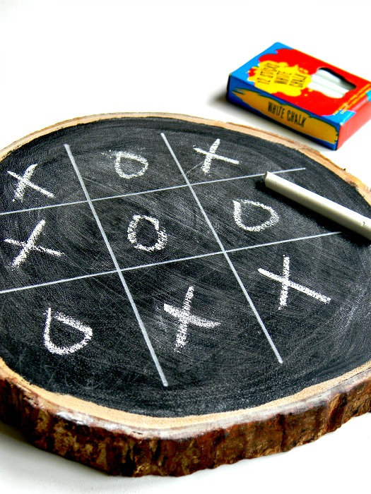 Rustic Chalkboard Tic-Tac-Toe