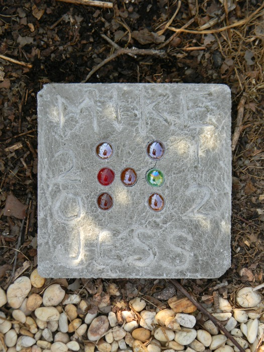 DIY Anniversary Stepping Stone