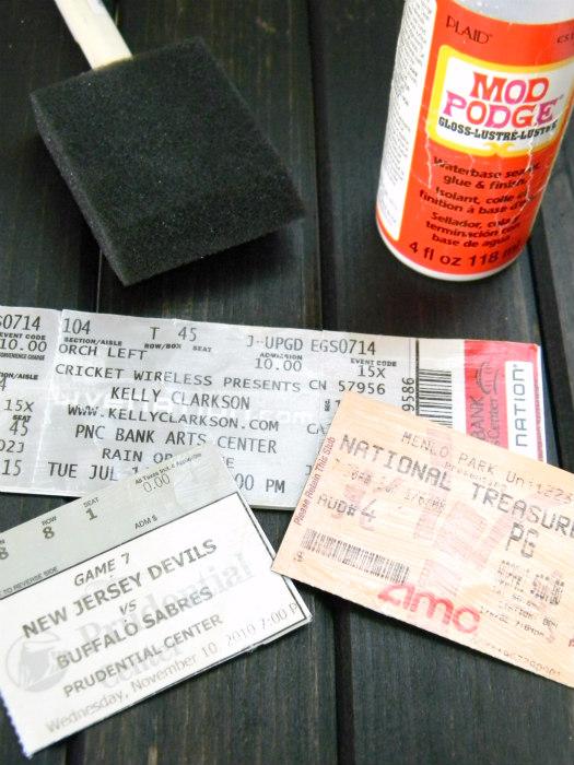 DIY Concert Ticket Magnets