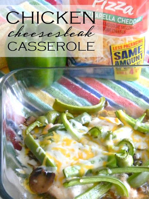 Chicken Cheesesteak Casserole