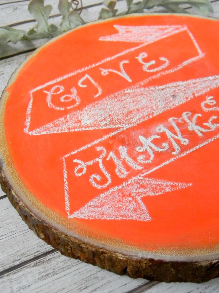 DIY Rustic Chalkboard Pumpkin