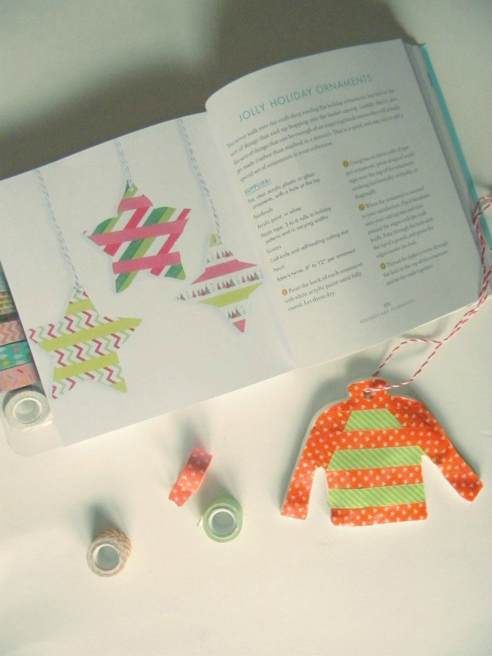DIY Washi Tape Ugly Sweater Ornament