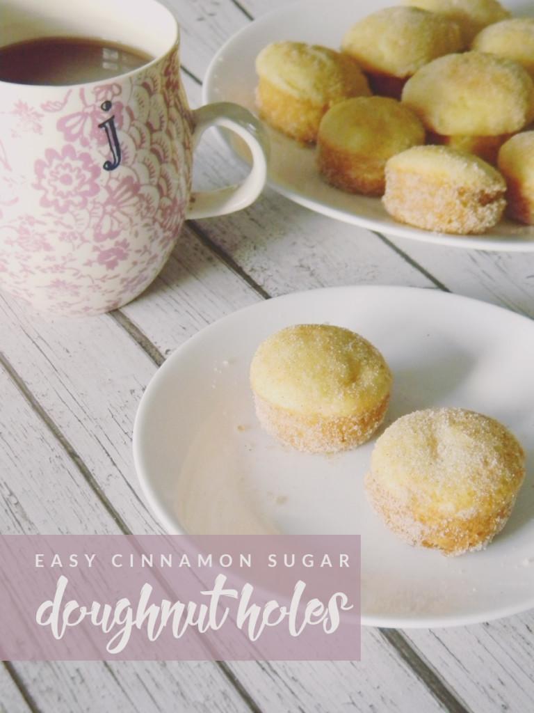 Easy Cinnamon Sugar Doughnut Holes