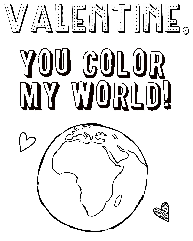 Color My World Printable
