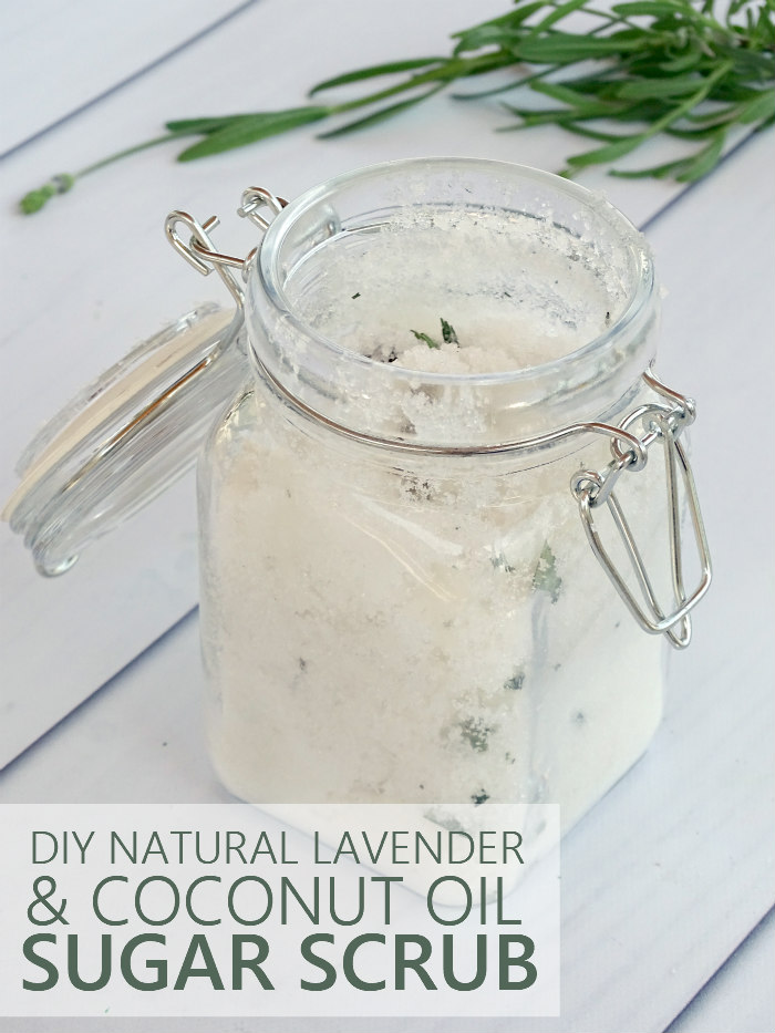 DIY Natural Lavender & Coconut Oil Sugar Scrub