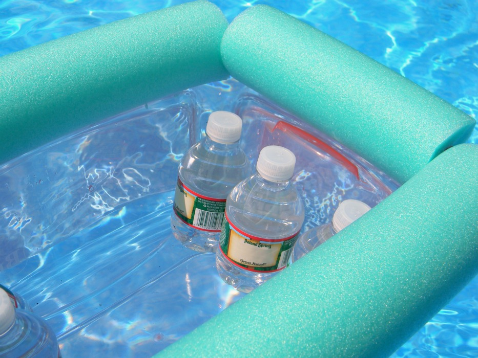 DIY Pool Noodle Floating Cooler