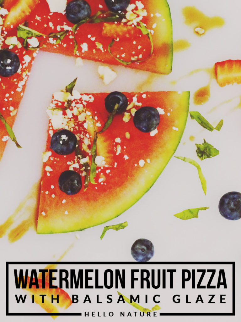 Watermelon Fruit Pizza with Balsamic Glaze