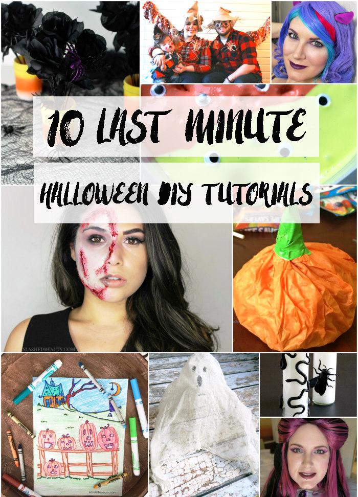 10 Last Minute Halloween DIY Tutorials