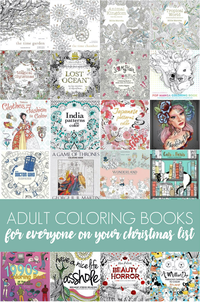 Adult Coloring Books for Everyone on Your Christmas List
