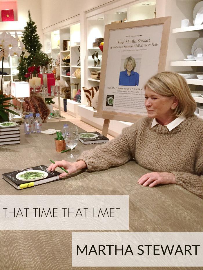That Time That I Met Martha Stewart