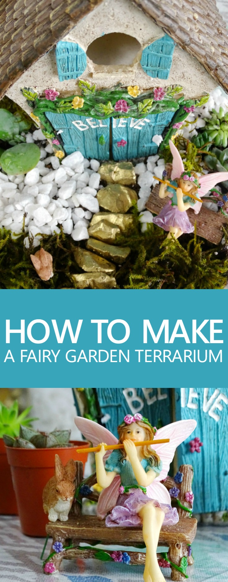 Make Your Own Fairy Garden Terrarium With This Kit Or Set It Up Outside.  Either Way, This Fairy Garden Is Sure To Add A Whimsical Touch To Your Home  And ...