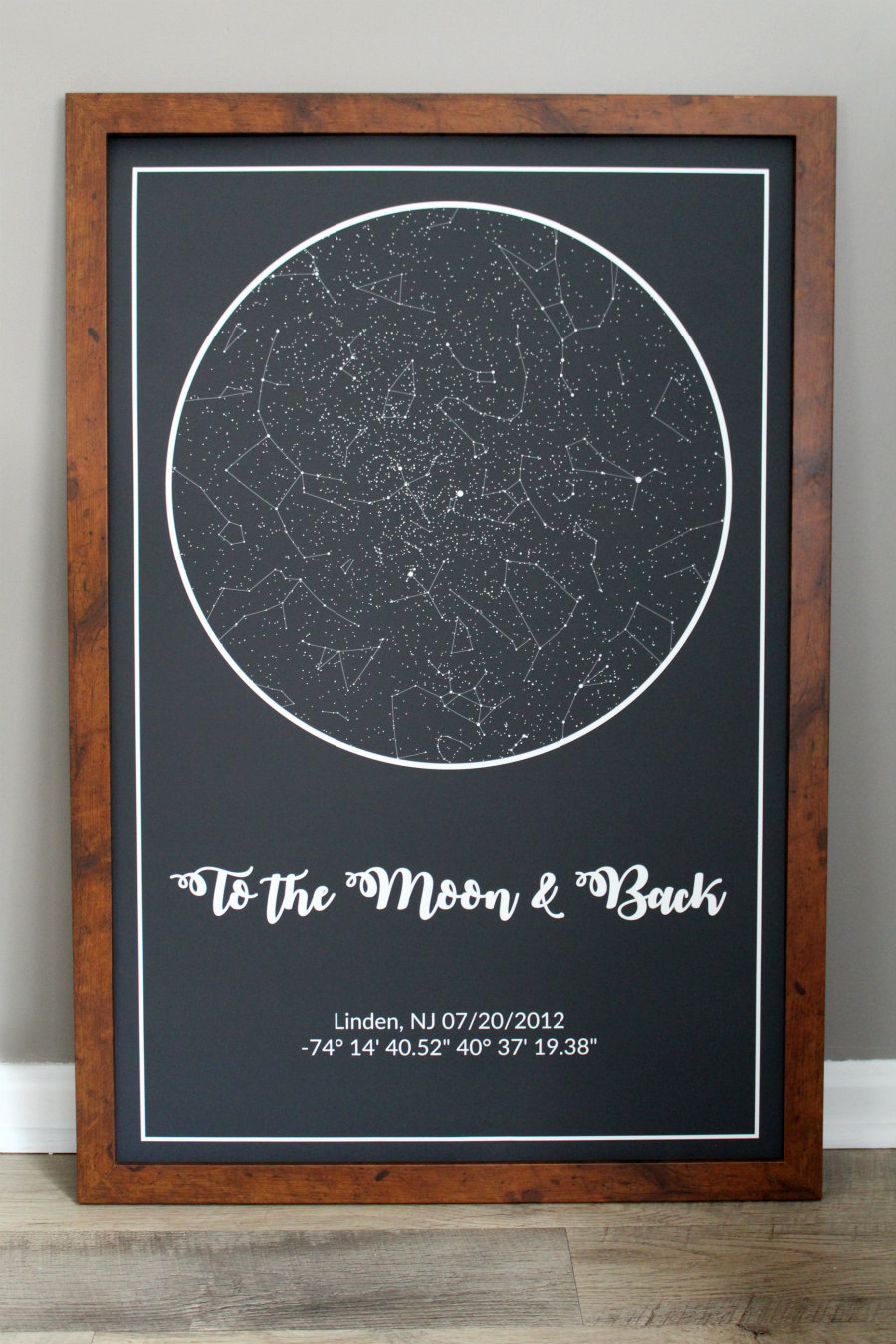 To the Moon & Back: A Star Map of Our Wedding Date   Living La
