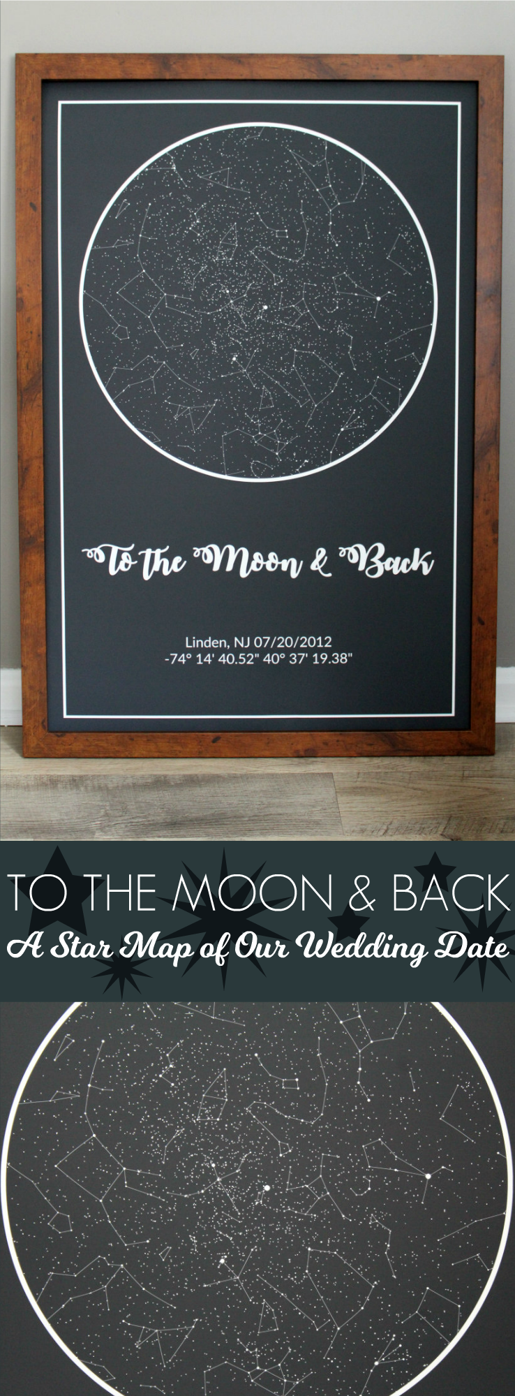 Star Map By Date And Location.To The Moon Back A Star Map Of Our Wedding Date Living La Vida