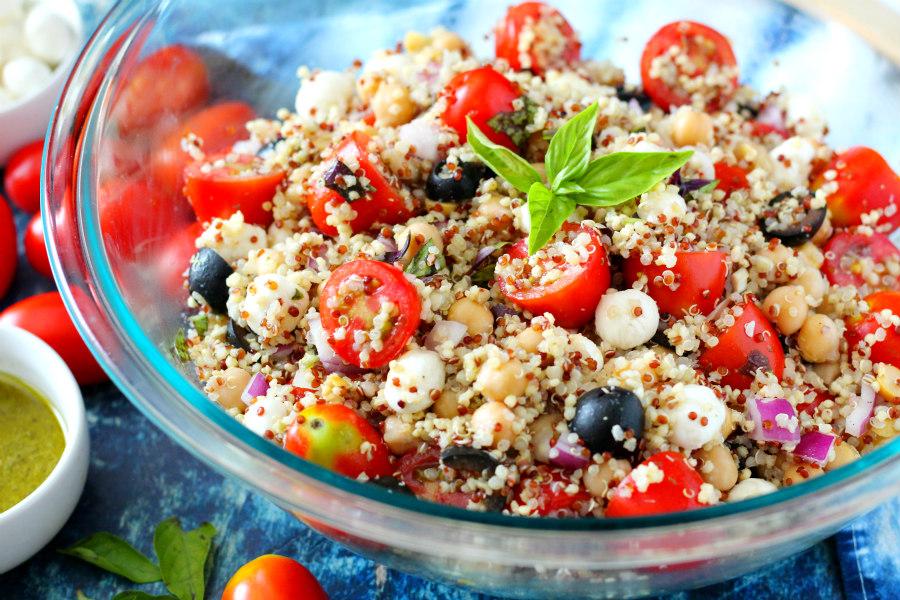 Caprese Style Quinoa Salad