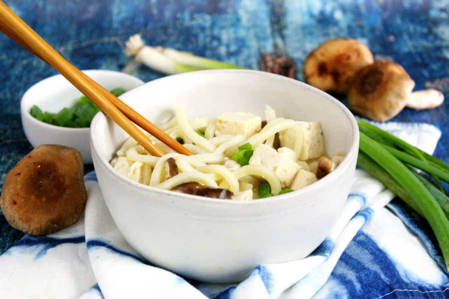 Easy Miso Soup with Udon Noodles