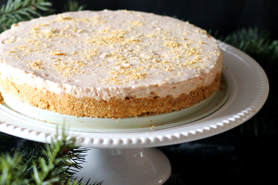 No-Bake Pumpkin Eggnog Cheesecake