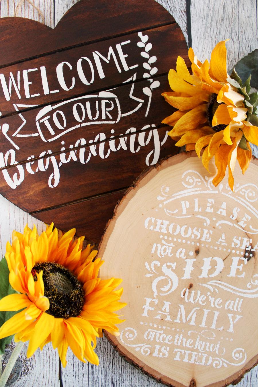 Rustic Stenciled Wedding Signs Diy Living La Vida Holoka