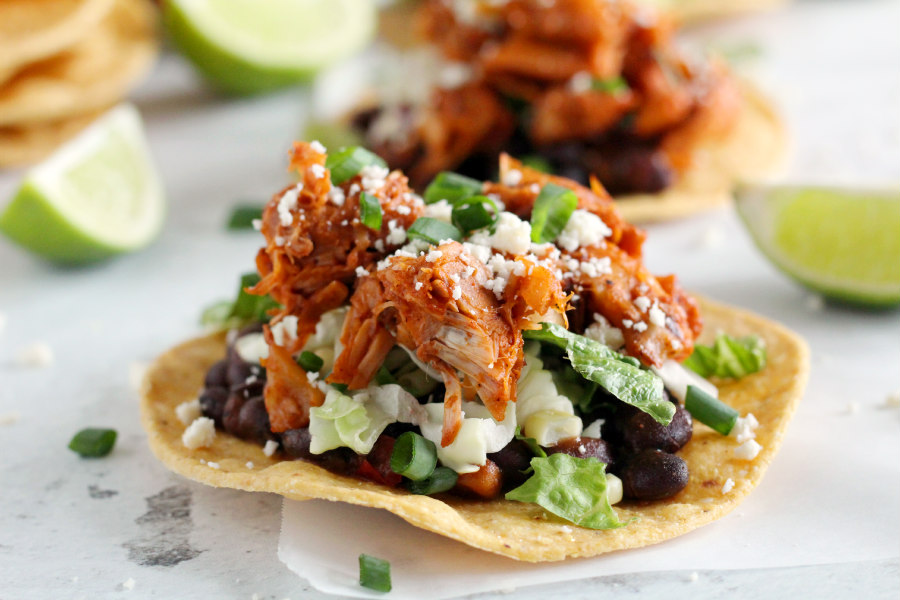 Jackfruit & Black Bean Tostadas