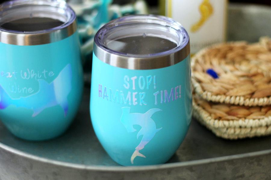 How to Make Shark Pun Wine Glasses - Living La Vida Holoka