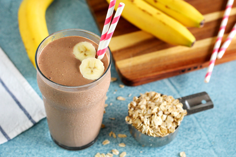 Chocolate Banana Oatmeal Smoothie