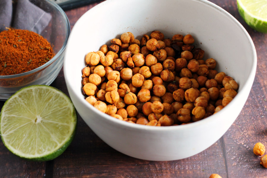 Chili Lime Air Fryer Chickpeas