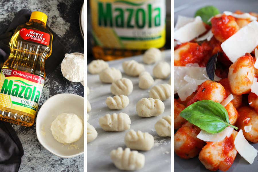 Easy Cauliflower Gnocchi with Marinara Sauce