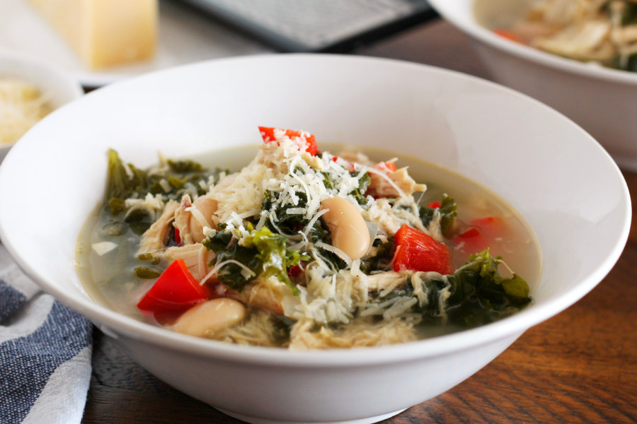 Kale, Chicken, and White Bean Soup