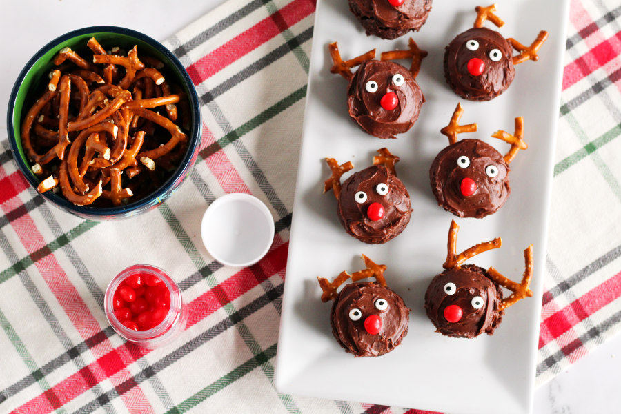 Mini Reindeer Brownie Bites