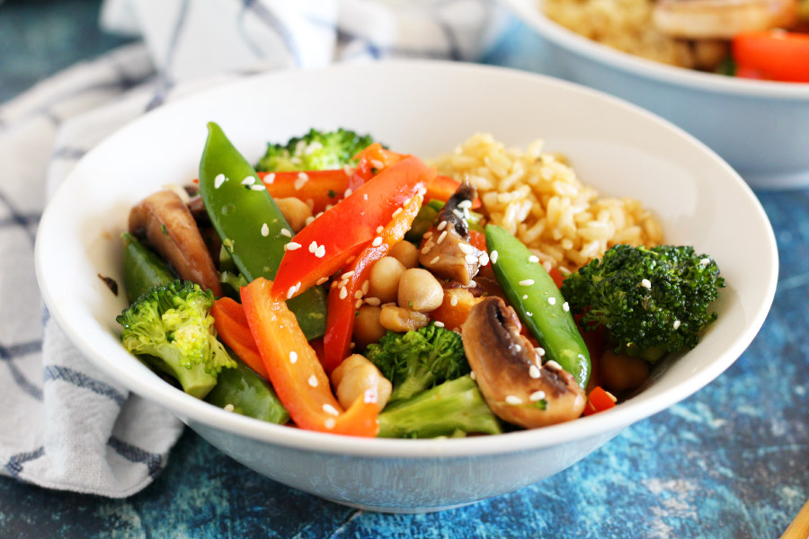 Vegetable Stir Fry with Chickpeas