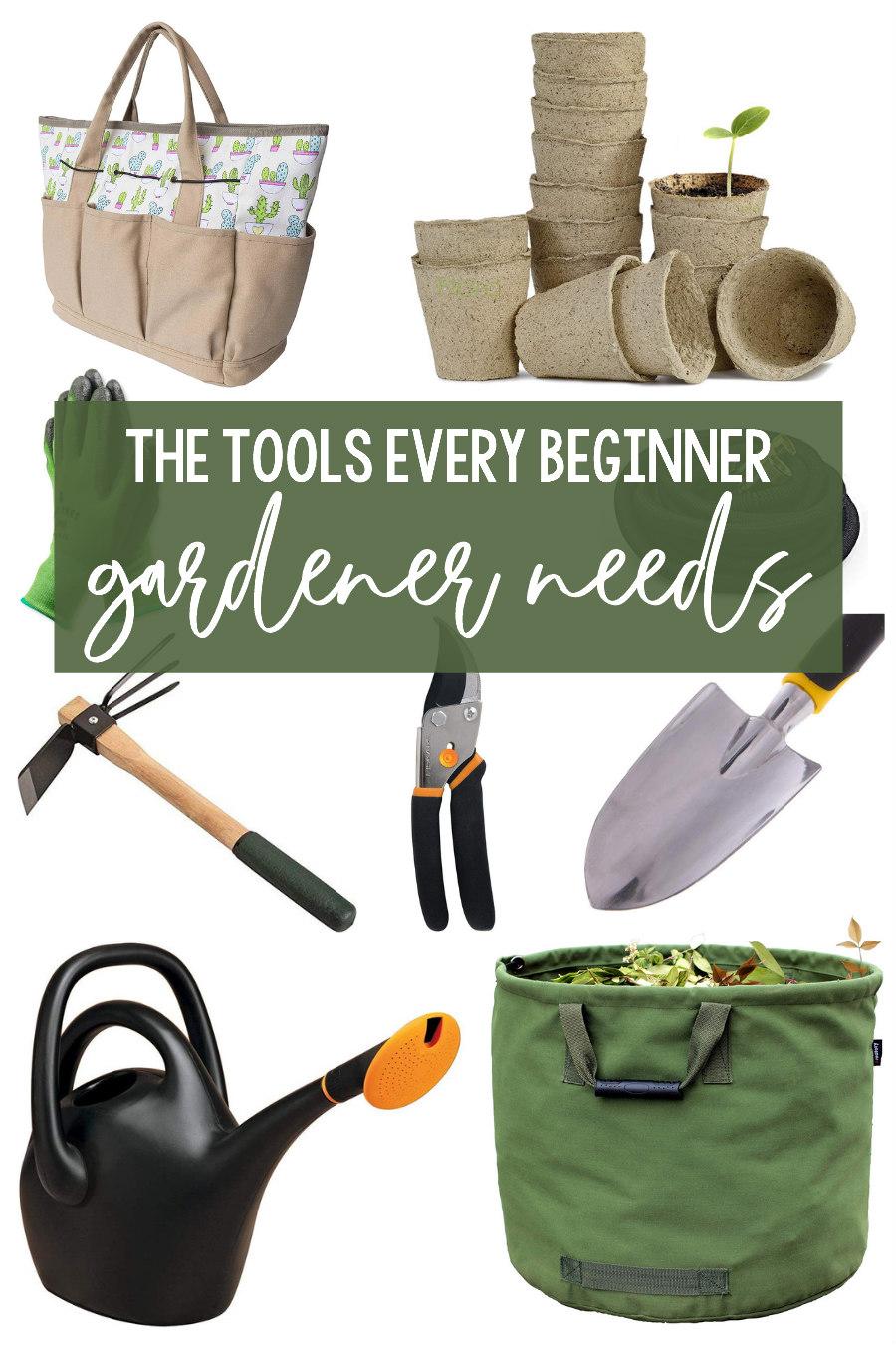 beginner gardener tools