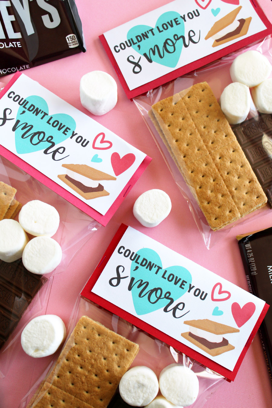 s'mores valentine's day treat topper made with cricut