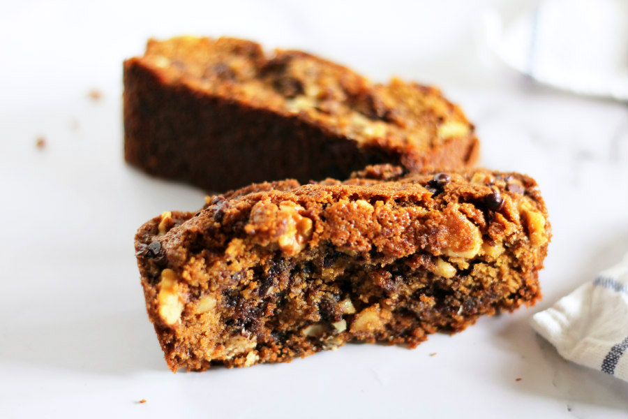 Chocolate Chip Bread with Walnuts
