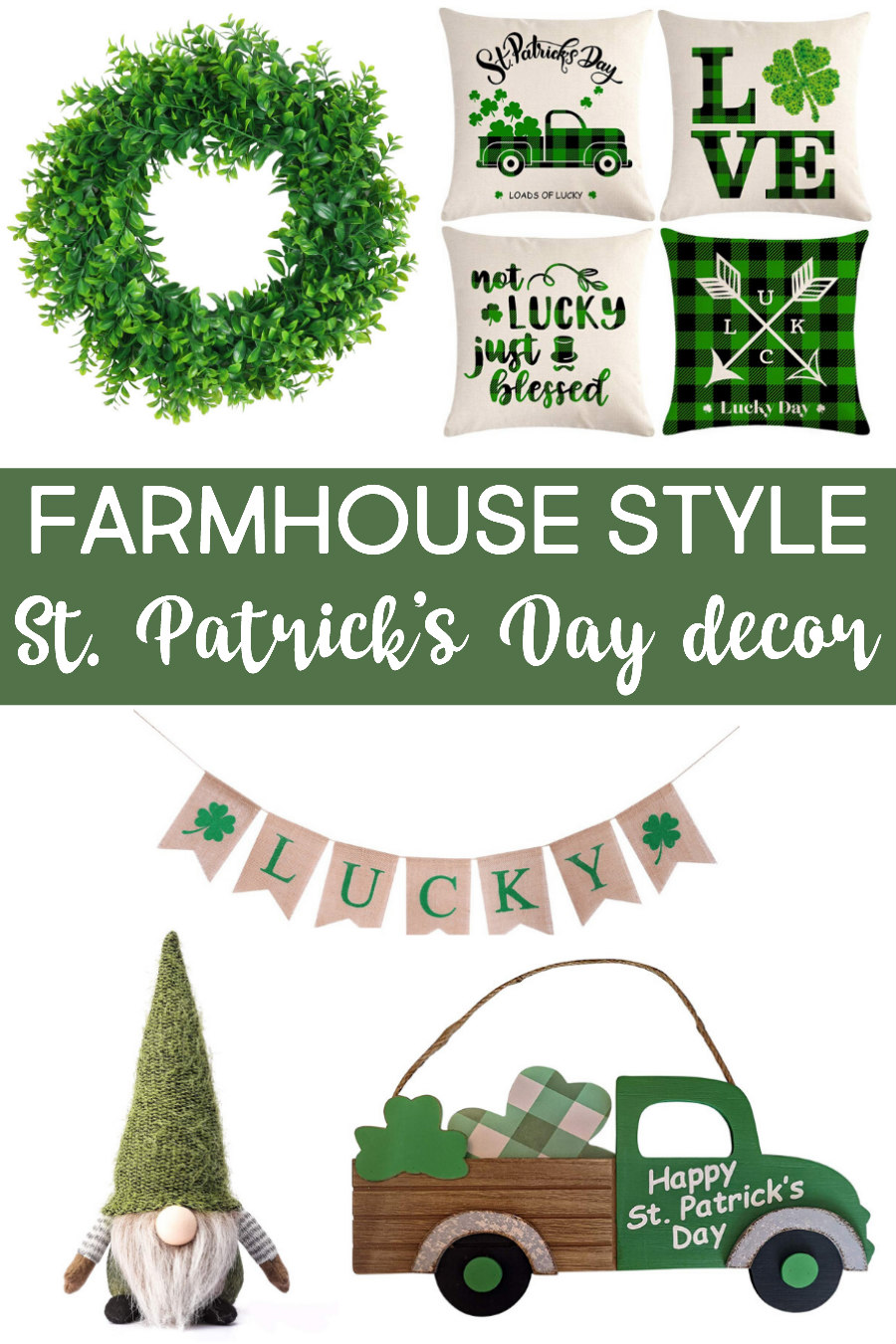 farmhouse st. patrick's day decor