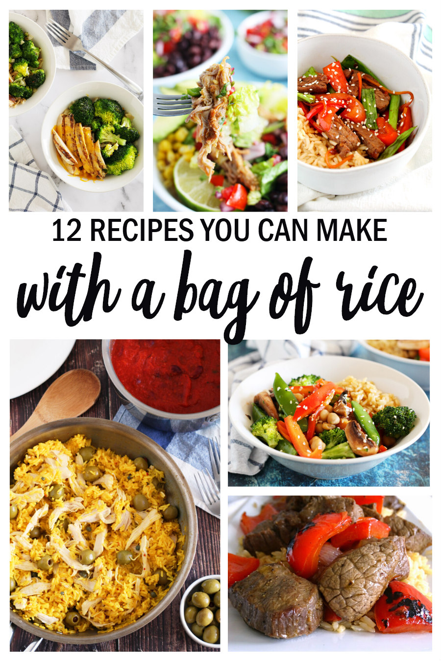 recipes you can make with a bag of rice