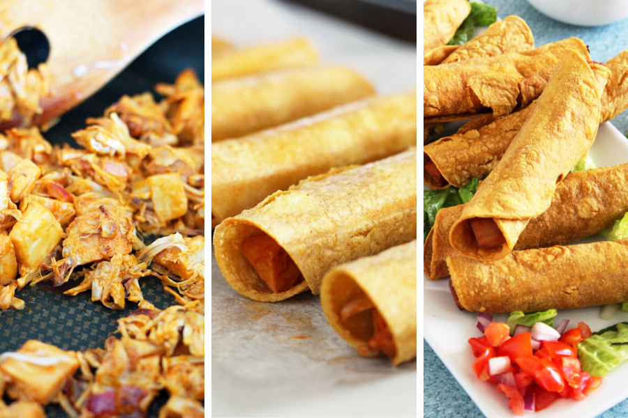 Easy Buffalo Jackfruit Taquitos