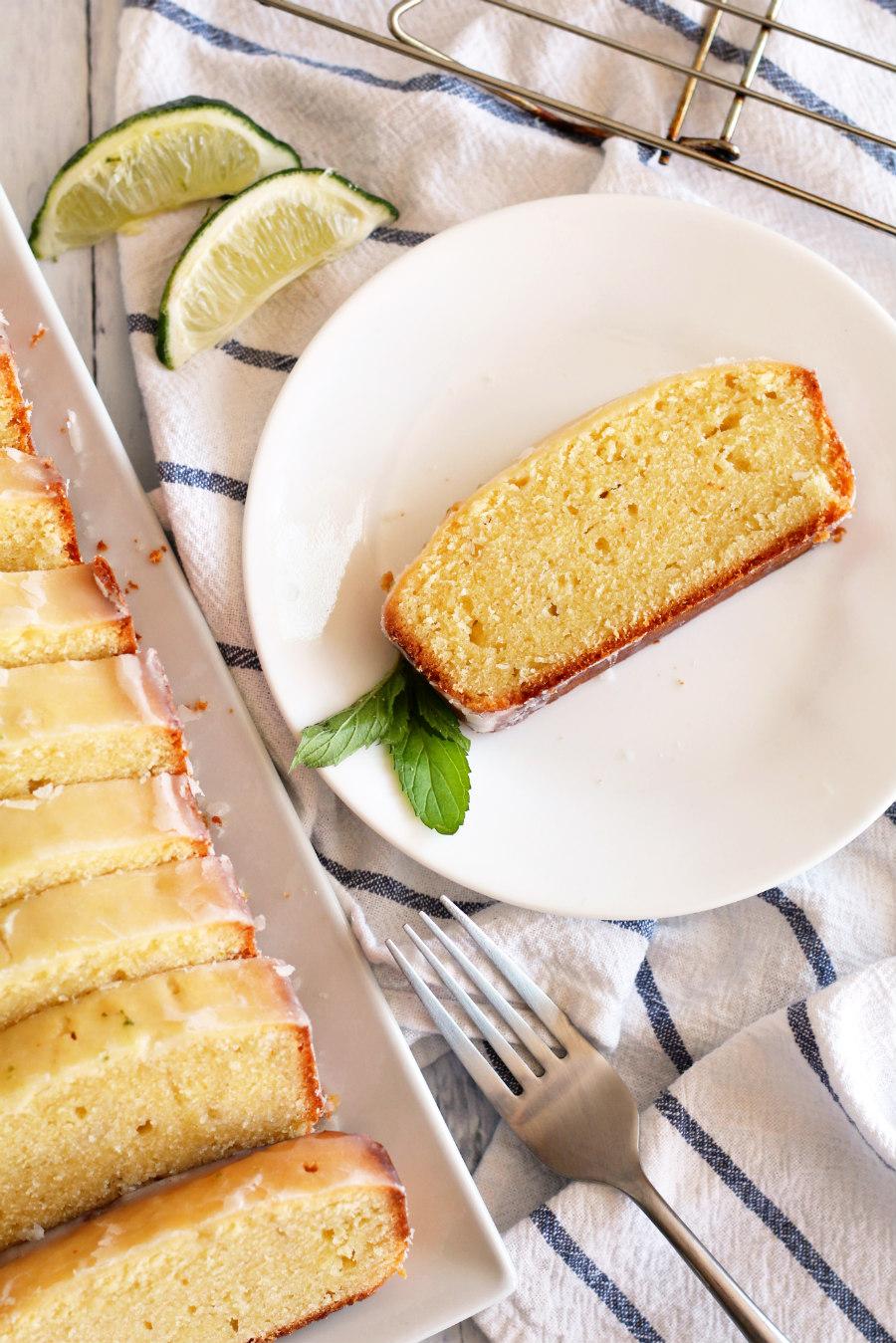 lemon lime pound cake loaf