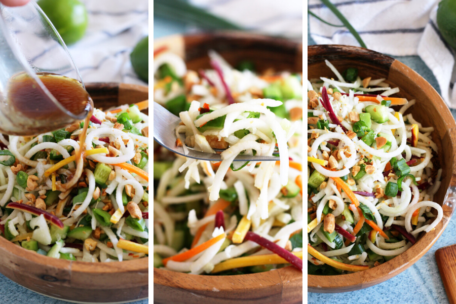 Asian Style Kohlrabi Noodle Salad