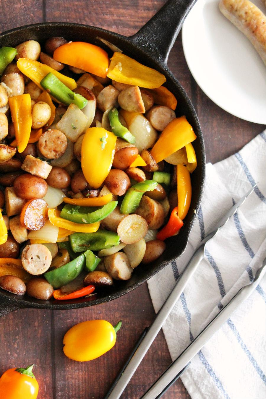 chicken sausage and potato skillet