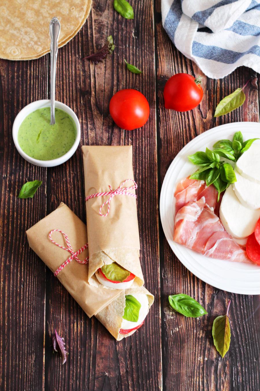 italian caprese wraps