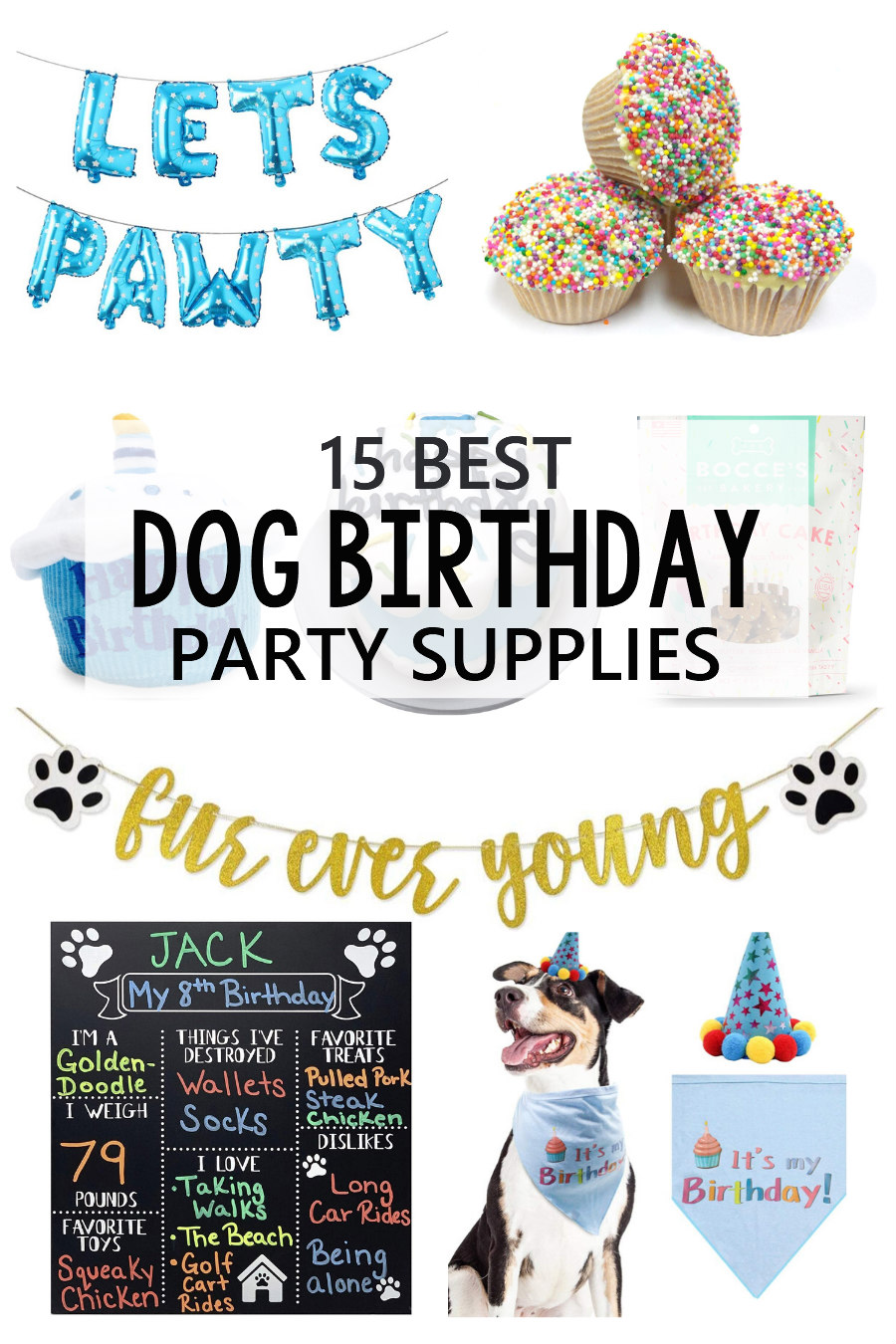 dog birthday party supplies