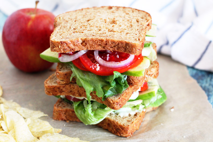 Panera Inspired Mediterranean Veggie Sandwich