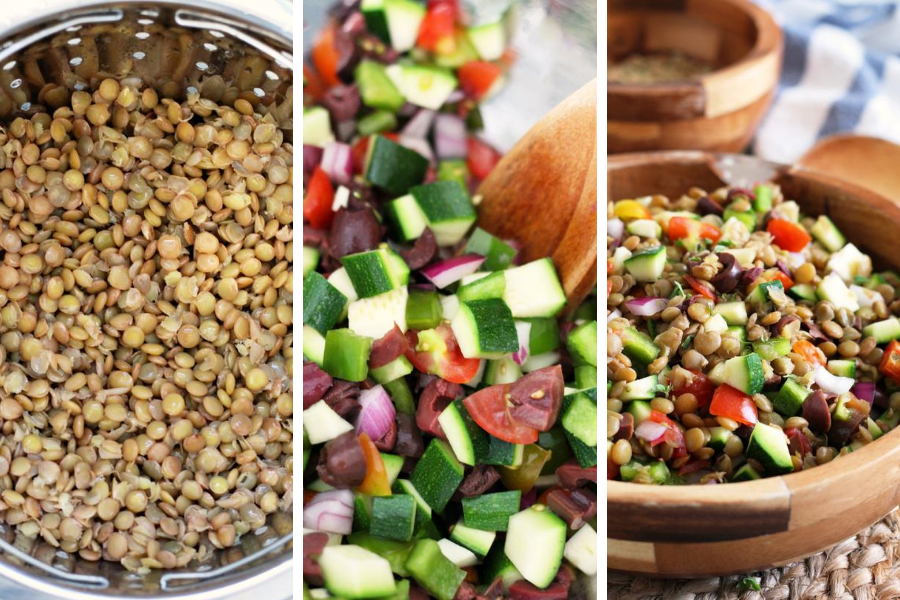 Fresh and Vegan Mediterranean Lentil Salad